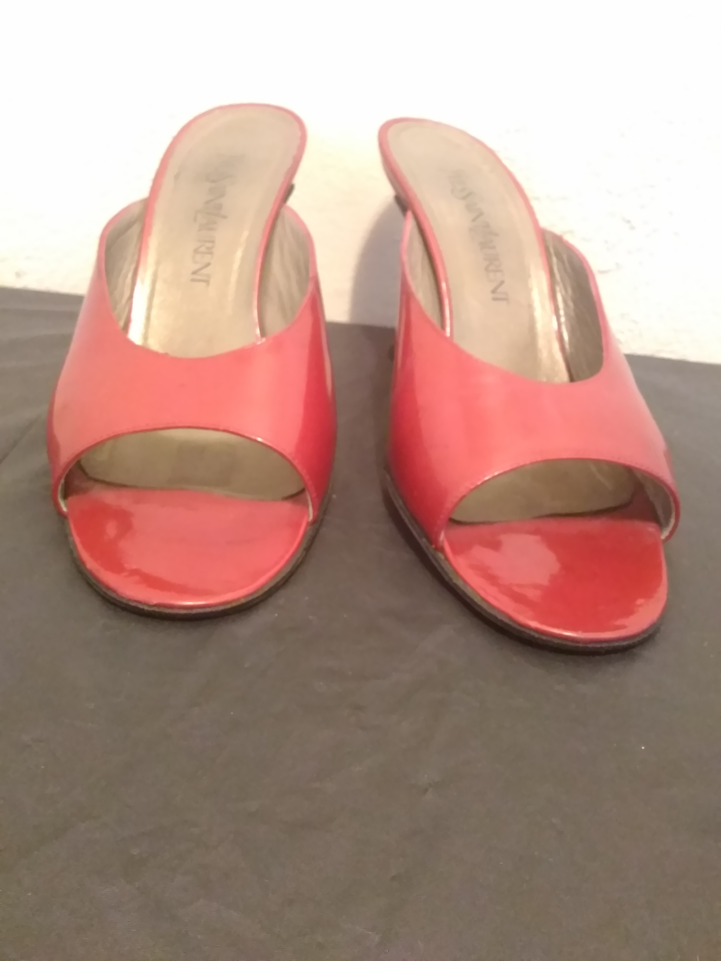 a96acced6e323 SOLD--Vtg 90s Mules by Yves Saint Laurent