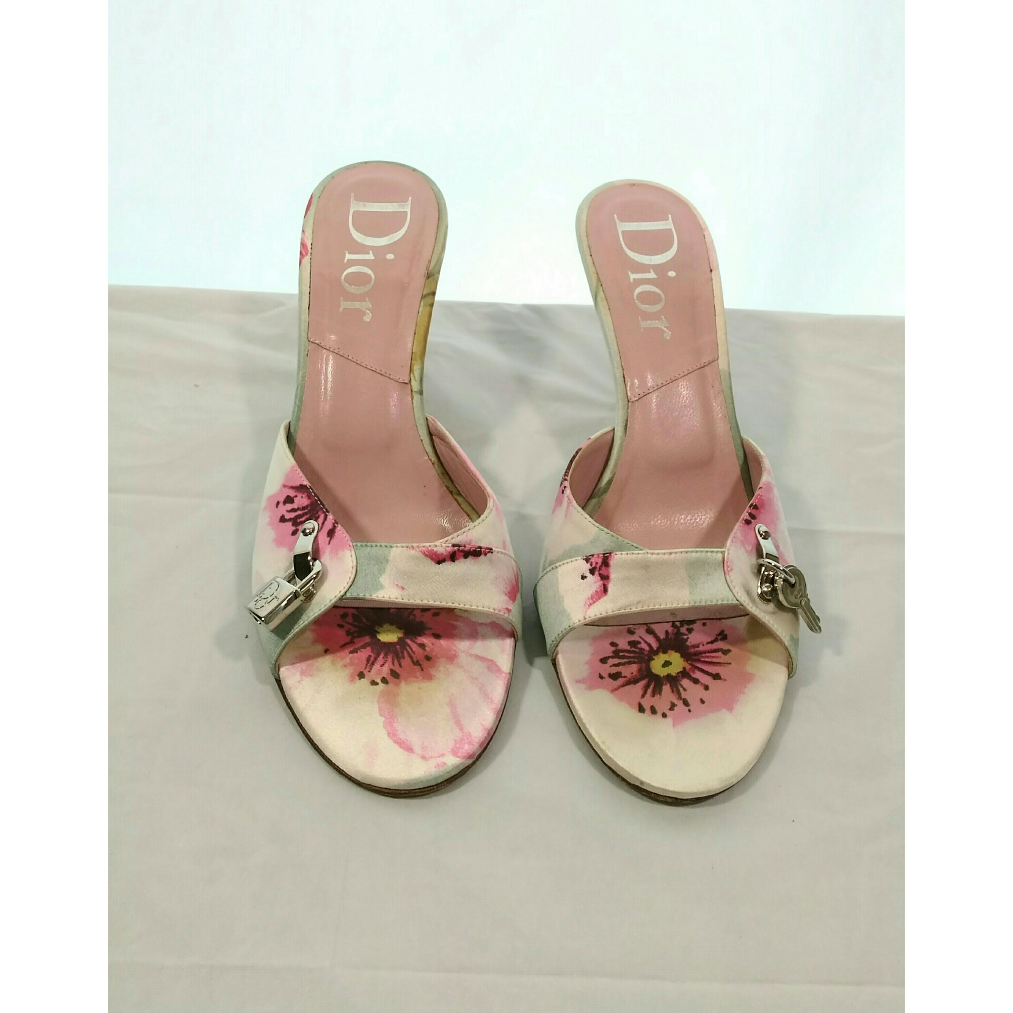 Floral Christian Dior Mules